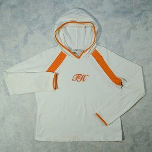Tommy Hilfiger White Orange Hoodie L/S Sweatshirt